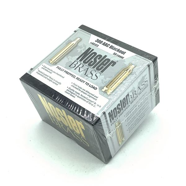 Nosler Brass Fully Prepped 300 AAC Blackout - 50 Count, New