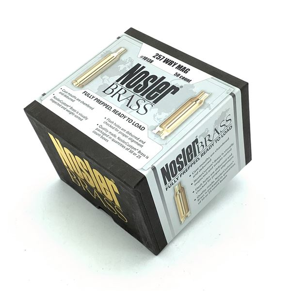 Nosler Brass Fully Prepped 257 WBY Mag- 50 Count, New