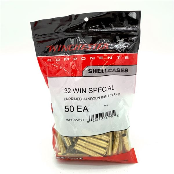 Winchester 32 Win Special Unprimed Handgun Shell Cases - 50 Count, New
