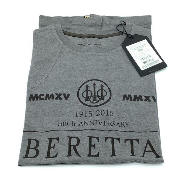 Beretta Centennial T-Shirt, Grey - XL, New