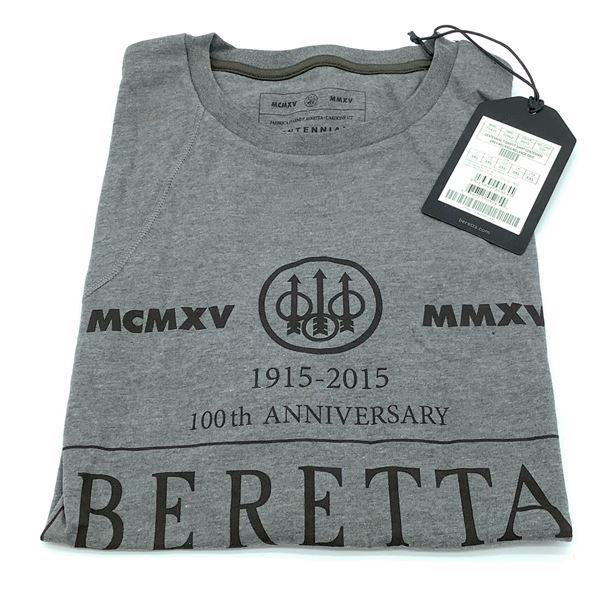 Beretta Centennial T-Shirt, Grey - 3XL, New