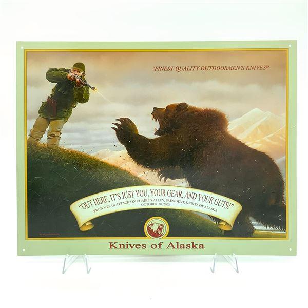 """Knives of Alaska Tin Sign 16"""" x 12.5"""""""