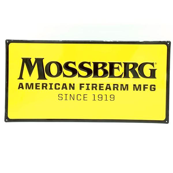 "Mossberg Tin Sign 23"" x 11 3/4"""