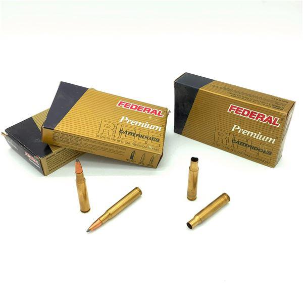Federal 30-06 Sprg Ammunition & Casings-  40 Rnds & 19 Cases