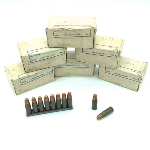 Surplus 7.62 x 25 Ammunition - 240 Rnds