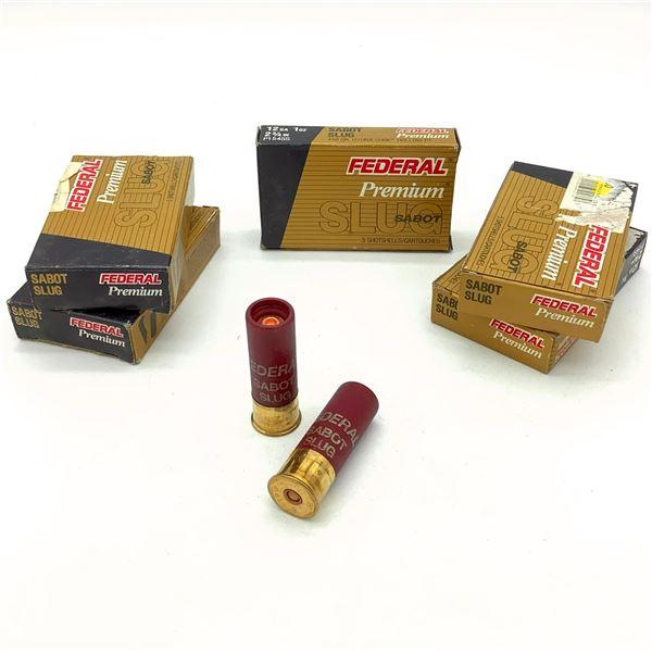 Federal Premium 12 Ga Sabot Slug Ammunition - 25 Rnds