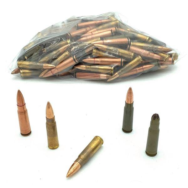 Assorted Loose 7.62 x 39 Ammunition - 57 Rnds