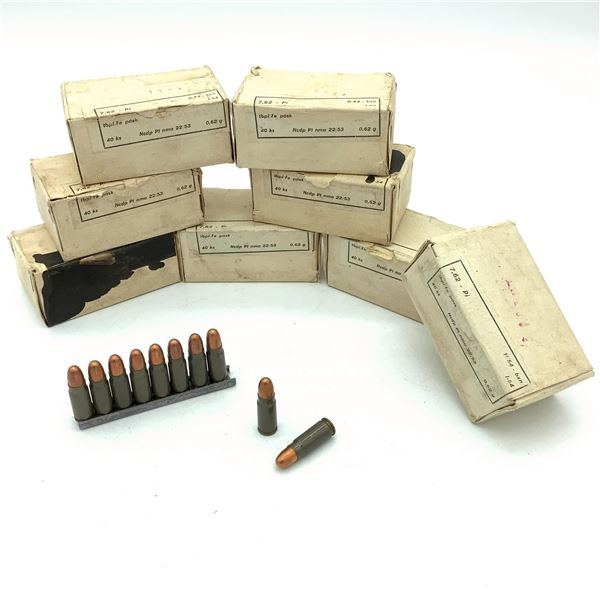 Surplus 7.62 x 25 Ammunition - 320 Rnds
