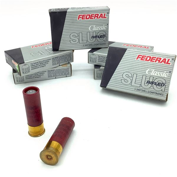 Federal Classic 12 Ga Rifled Slug Ammunition - 30 Rnds