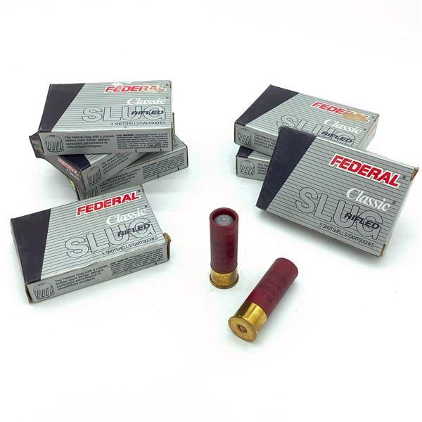 Federal Classic 12 Ga Rifled Slug Ammunition - 35 Rnds