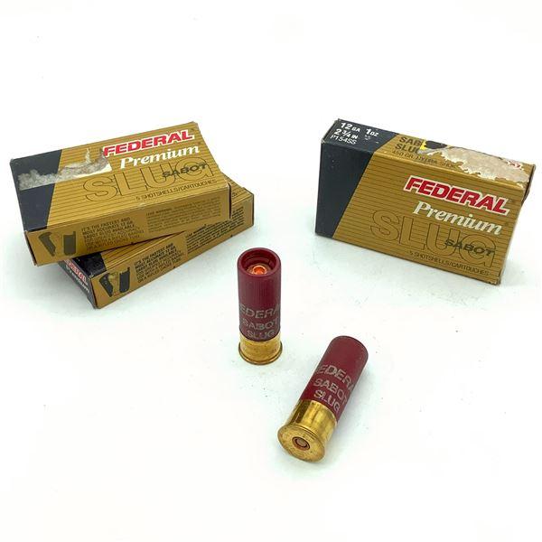 Federal Premium 12 Ga Sabot Slug Ammunition - 15 Rnds