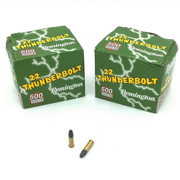 Remington 22 Thunderbolt, 22 LR, RN Ammunition - 1000 Rnds