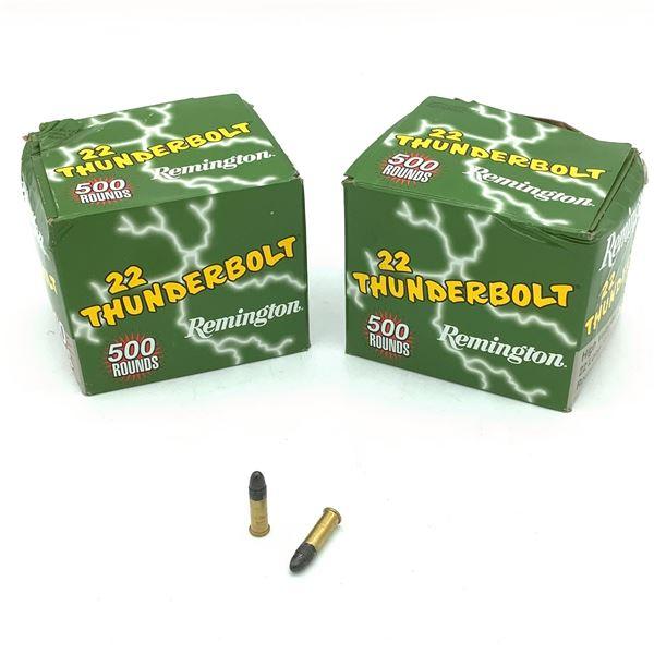 Remington 22 Thunderbolt, 22 LR, RN Ammunition - 1000 Rnds