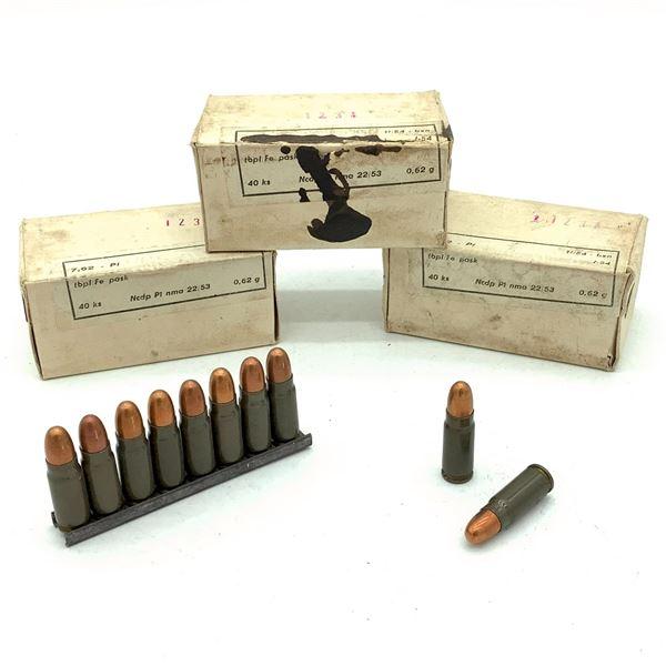 Surplus 7.62 x 25 Ammunition - 120 Rnds