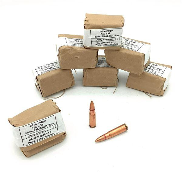 Surplus 7.62 x 39 FMJ Ammunition - 140 Rnds