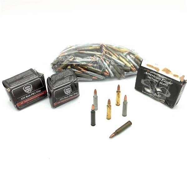 Assorted 223 Rem Ammunition - 216 Rnds