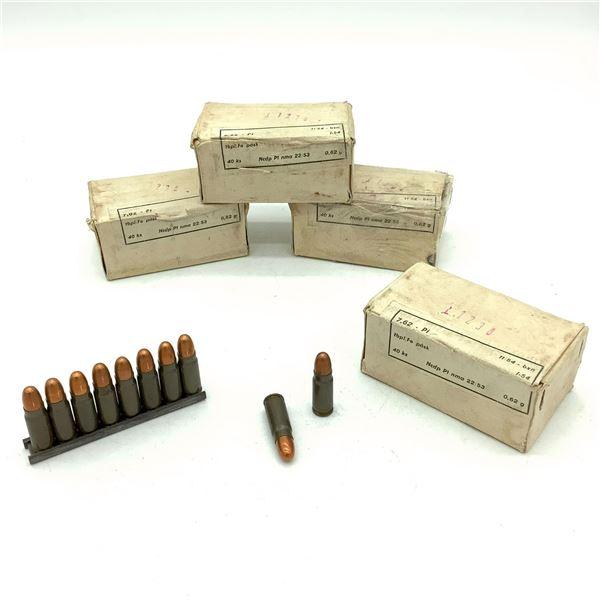 Surplus 7.62 x 25 Ammunition - 159 Rnds