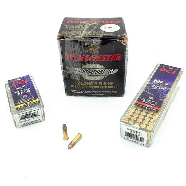 Assorted 22 LR Ammunition - 650 Rnds