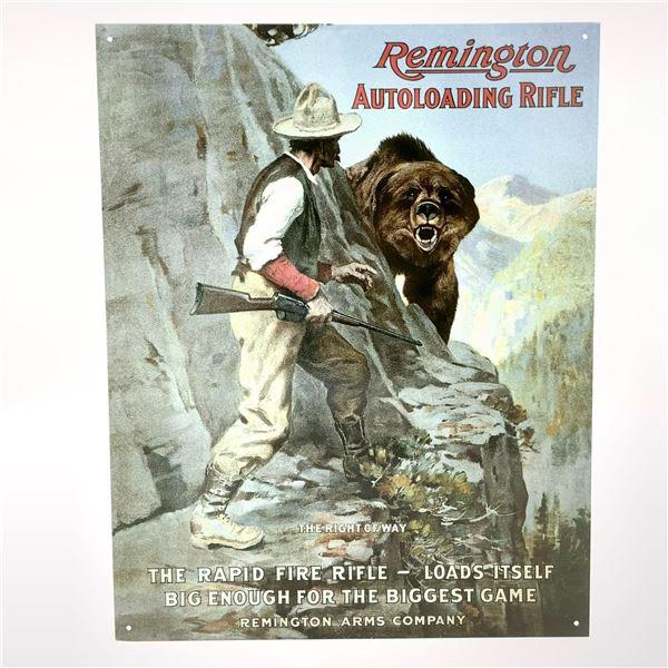 """Remington Tin Sign 16"""" x 12.5"""""""