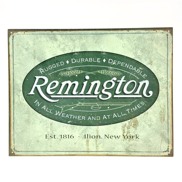 """Remington Tin Sign 12.5"""" x 16"""""""