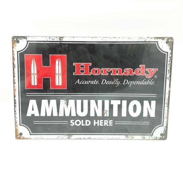 """Hornady Tin Sign 11.5"""" x 17.5"""""""