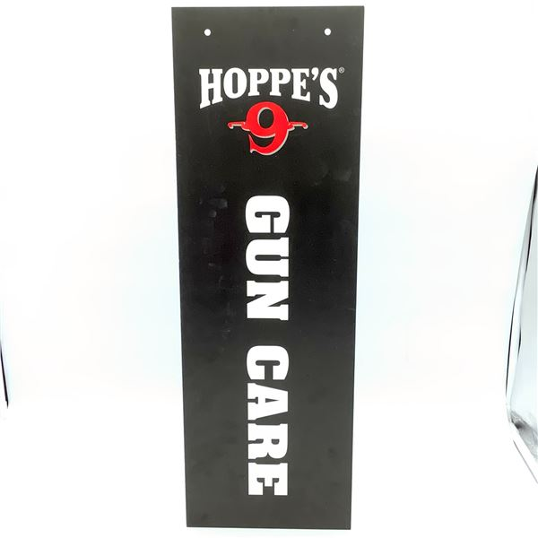 """Hoppe's 9 Promotional Sign 33"""" x 8"""""""