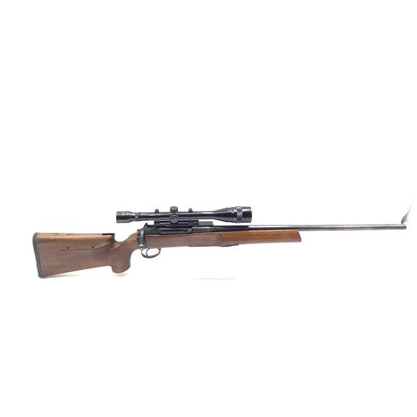 Converted Lee Enfield Heavy Barrel 308, Single Shot Bolt Action Target Rifle Tasco 20-40 Scope