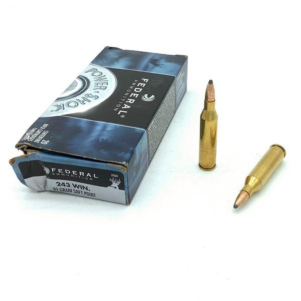 Federal Powershock 243 Win  Ammunition - 20 Rnds