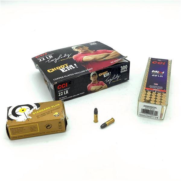 Assorted 22 LR Ammunition - 434 Rnds