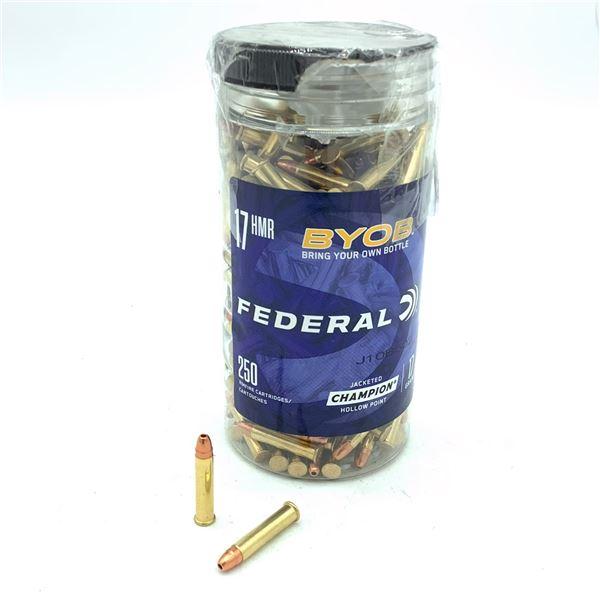 Federal 17 HMR Ammunition - 250 Rnds