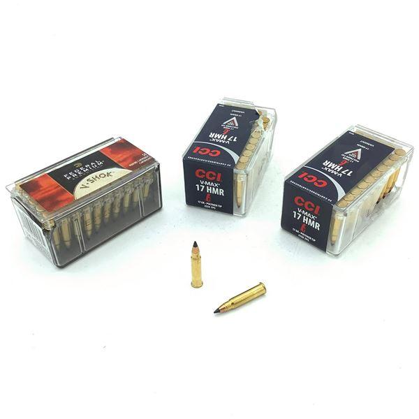 Assorted 17 HMR Ammunition - 149 Rnds