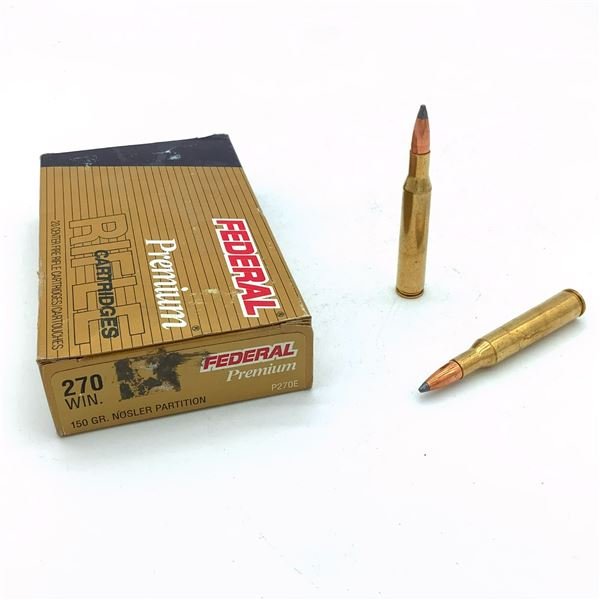 Federal Premium 270 Win Ammunition - 20 Rnds