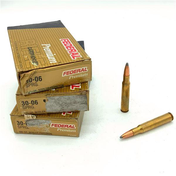 Federal Premium 30-06 SPRG Ammunition- 60 Rnds