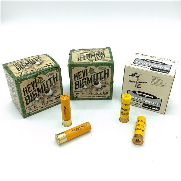 Assorted 20 Ga Ammunition - 60 Rnds