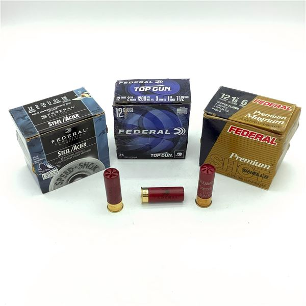 Assorted Federal 12 Ga Ammunition - 75 Rnds