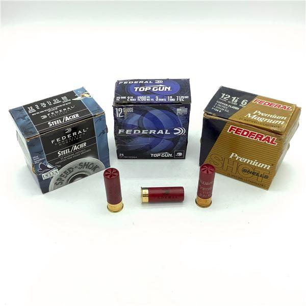 Assorted Federal 12 Ga Ammunition - 75 Rnds