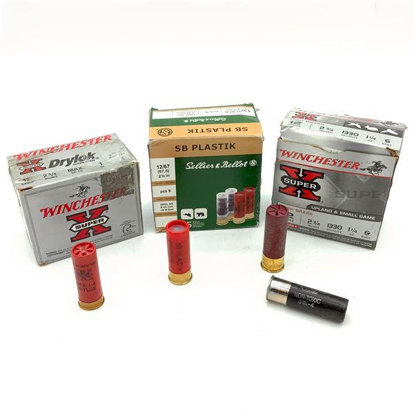 Assorted 12 Ga Ammunition - 63 Rnds