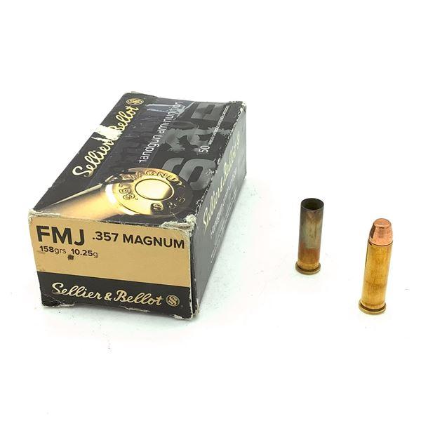 Sellier & Bellot 357 Magnum Ammunition & Casings - 35 Rnds & 14 Casings