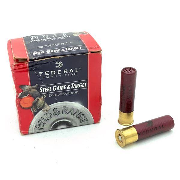 Federal Steel Game & Target 28 Ga Ammunition - 25 Rnds