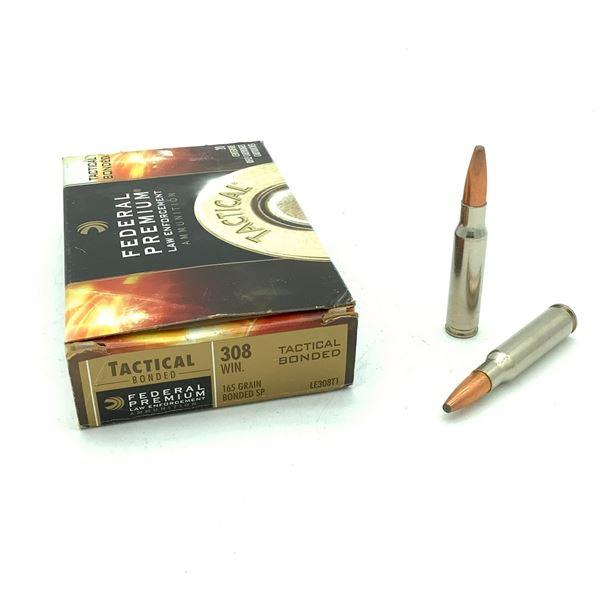Federal Premium Tactical Bonded 308 Win Ammunition - 20 Rnds
