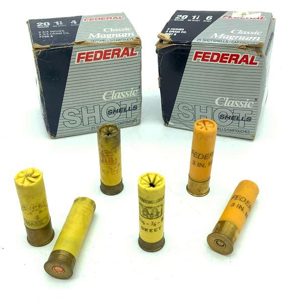 Assorted 20 Ga Ammunition - 48 Rnds