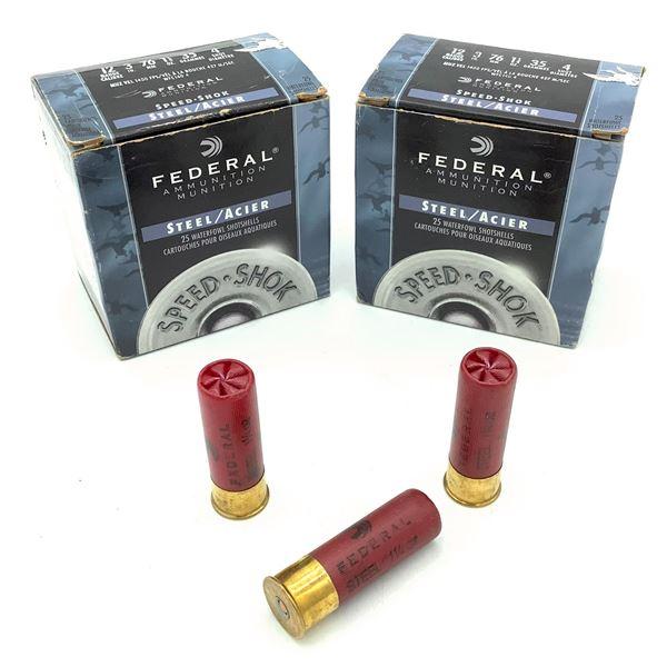 Federal Steel 12 Ga Ammunition - 50 Rnds