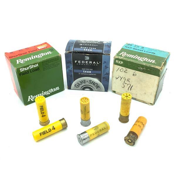 Assorted 20 Ga Ammunition - 58 Rnds