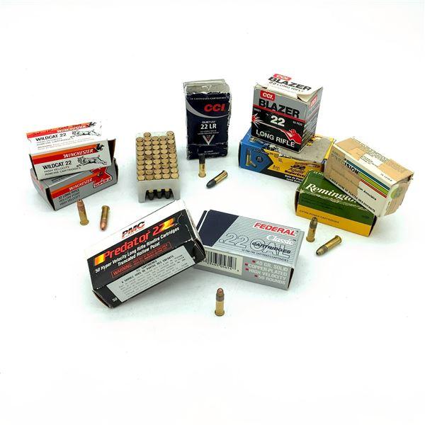 Assorted 22 Ammunition - 380 Rnds