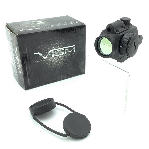 Vism Micro Green Dot Sight with Integrated Red Laser, New