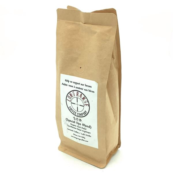 Long Range Coffee Company, Organic Dark Roast - S.O.B (Special Ops Blend)