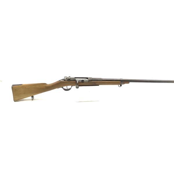 Sporterized Antique Mauser 1871 in 43 Mauser, Single Shot Bolt Action