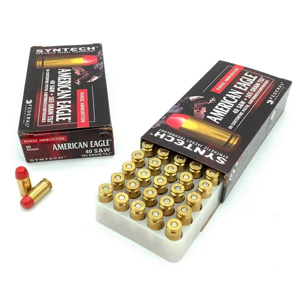 American Eagle 40 S& W Syntech Ammunition - 100 Rnds