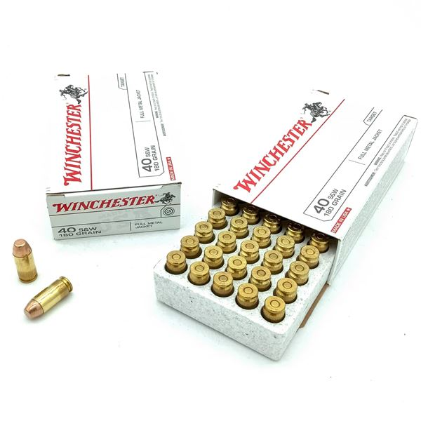 Winchester 40 S& W FMJ Ammunition - 100 Rnds