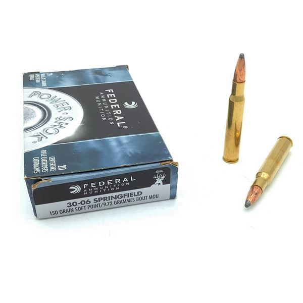 Federal Power Shok 30-06 SPRG SP Ammunition - 20 rnds